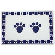 PetRageous Designs Pet Paws Placemat, Cobalt Blue