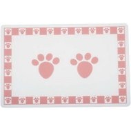 PetRageous Designs Pet Paws Placemat, Pink