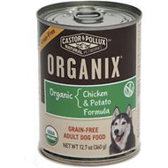 Castor & Pollux Organix Grain-Free Chicken & Potato Formula Adult Canned Dog Food, 12.7-oz, case of 12