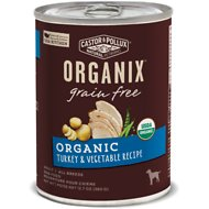 Castor & Pollux Organix Grain-Free Turkey & Vegetable Formula Adult Canned Dog Food, 12.7-oz, case of 12
