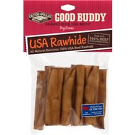 Castor & Pollux Good Buddy USA Rawhide Mini Rolls Dog Treats, 10-pack