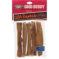 Castor & Pollux Good Buddy USA Rawhide Sticks Dog Treats, 5-inch, 5 pack