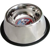 Loving Pets Deep Stainless Steel No Tip Pet Bowl, 4-cup bowl