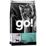 Go! Fit + Free Grain-Free Chicken, Turkey & Trout Recipe Adult Dry Dog Food, 25-lb bag