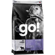 Go! Fit + Free Grain-Free Chicken, Turkey & Trout Recipe Senior Dry Dog Food, 12-lb bag