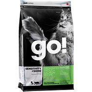 Go! Sensitivity + Shine Grain-Free Freshwater Trout & Salmon Recipe Dry Cat Food, 8-lb bag