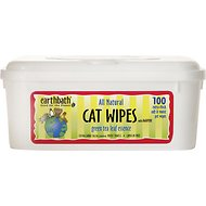 Earthbath Green Tea Grooming Wipes for Cats, 100 count