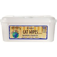 Earthbath Hypo-Allergenic Grooming Wipes for Cats, 100 count