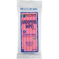 Earthbath Puppy Travel Grooming Wipes, 28- count