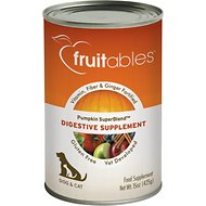Fruitables Pumpkin SuperBlend Digestive Dog & Cat Supplement, 15-oz, case of 12