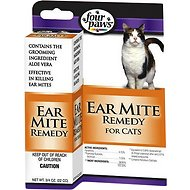 Four Paws Ear Mite Cat Remedy, 3/4-oz-bottle