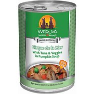 Weruva Cirque De La Mer with Tuna & Veggies in Pumpkin Soup Grain-Free Canned Dog Food, 14-oz, case of 12