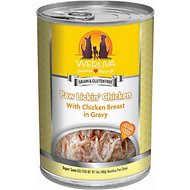 Weruva Paw Lickin' Chicken in Gravy Canned Dog Food, 14-oz, case of 12