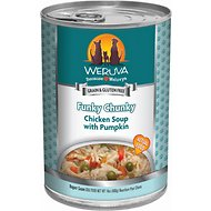 Weruva Funky Chunky Chicken Soup with Pumpkin Canned Dog Food, 14-oz, case of 12