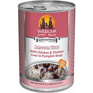 Weruva Amazon Liver with Chicken & Chicken Liver in Pumpkin Soup Canned Dog Food, 14-oz, case of 12