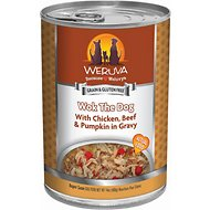 Weruva Wok the Dog with Chicken, Beef & Pumpkin in Gravy Grain-Free Canned Dog Food, 14-oz, case of 12