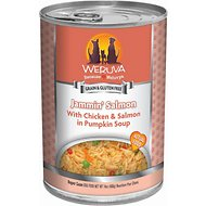Weruva Jammin' Salmon with Chicken & Salmon in Pumpkin Soup Canned Dog Food, 14-oz, case of 12