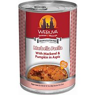 Weruva Marbella Paella with Mackerel & Pumpkin in Aspic Canned Dog Food, 14-oz, case of 12