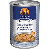 Weruva Bed & Breakfast with Chicken, Egg, & Pumpkin in Gravy Canned Dog Food, 14-oz, case of 12
