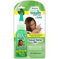TropiClean Fresh Breath Clean Teeth Gel For Cats, 2-oz bottle