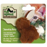 Play-N-Squeak Backyard Squeaking Bunny Cat Toy