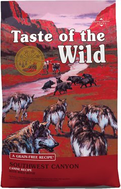 Taste Of The Wild Dog Food Reviews >> Taste of the Wild Southwest Canyon Grain-Free Dry Dog Food, 28-lb bag - Chewy.com