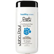 John Paul Pet Body & Paw Wipes for Dogs & Cats, 45-count