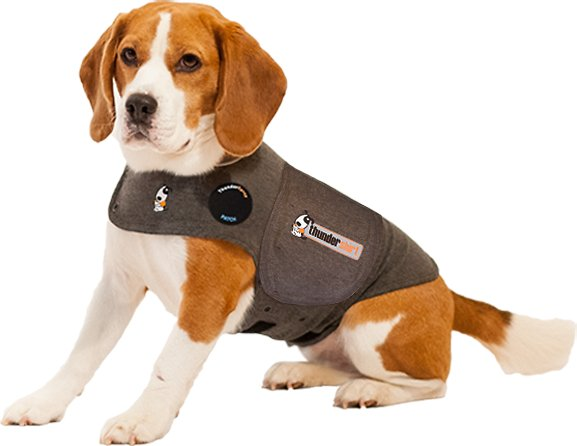 Thundershirt Anxiety Calming Aid For Dogs Heather Grey Large