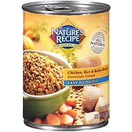 Nature's Recipe Easy-To-Digest Chicken, Rice & Barley Recipe Homestyle Ground Canned Dog Food, 13.2-oz, case of 12