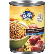 Nature's Recipe Easy-To-Digest Lamb, Rice & Barley Recipe Homestyle Ground Canned Dog Food, 13.2-oz, case of 12