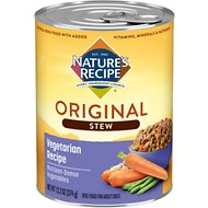Nature's Recipe Healthy Skin Vegetarian Recipe Cuts in Gravy Stew Canned Dog Food, 13.2-oz, case of 12