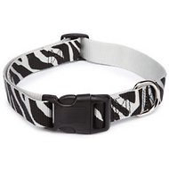 East Side Collection Animal Print Dog Collar, Zebra, Large