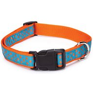 East Side Collection Polka Dot Dog Collar, Orange, Medium