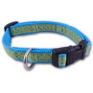 East Side Collection Polka Dot Dog Collar, Parrot Green, Large
