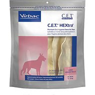 Virbac C.E.T. HEXtra Premium Dental Dog Chews, Large