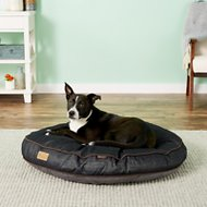 P.L.A.Y. Pet Lifestyle and You Urban Denim Round Bed, Brown, Medium