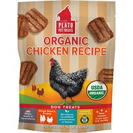 Plato Organic Chicken Dog Treats, 16-oz bag