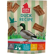 Plato Natural Duck Dog Treats, 16-oz bag