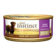 Instinct by Nature's Variety Grain-Free Rabbit Formula Canned Dog Food, 5.5-oz, case of 12