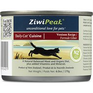 ZiwiPeak Daily-Cat Cuisine Venison Grain-Free Canned Cat Food, 6-oz, case of 12
