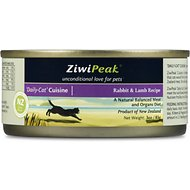 ZiwiPeak Daily-Cat Cuisine Rabbit & Lamb Grain-Free Canned Cat Food, 3-oz, case of 24