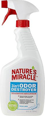 Nature's Miracle Fresh Linen 3 in 1 Odor Destroyer, 24-oz bottle - Chewy.com