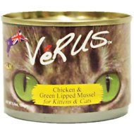 VeRUS Chicken & Green Lipped Mussel Canned Cat Food, 6.5-oz, case of 24