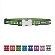 Red Dingo Reflective Dog Collar, Green, 12mm
