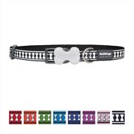 Red Dingo Reflective Dog Collar, Black, 12mm