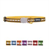 Red Dingo Reflective Cat Collar, Yellow, 8-13in