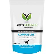 VetriScience Composure Behavioral Health Mini Bite-Sized Dog Chews, 30 count