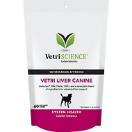 VetriScience Vetri-Liver Support System Health Bite-Sized Dog Chews, 60 count