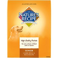Nature's Recipe Senior Lamb Meal & Rice Recipe Dry Dog Food, 30-lb bag