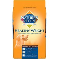 Nature's Recipe Healthy Weight Adult Chicken Meal, Rice & Barley Recipe Dry Dog Food, 30-lb bag